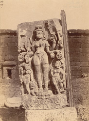 Statue of Parvati in the courtyard of the Yameshvara Temple, Bhubaneshwar
